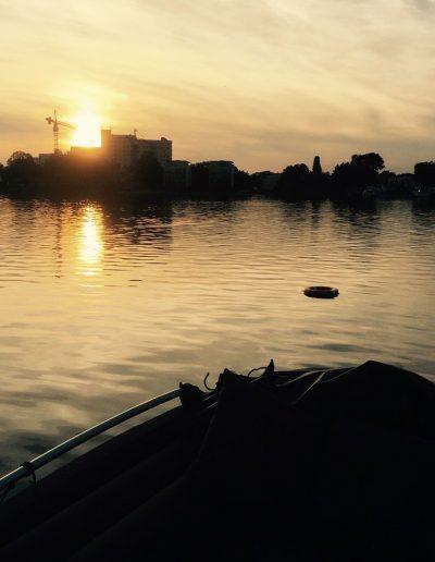 Bootsfahrschule Berlin - Abendstimmung