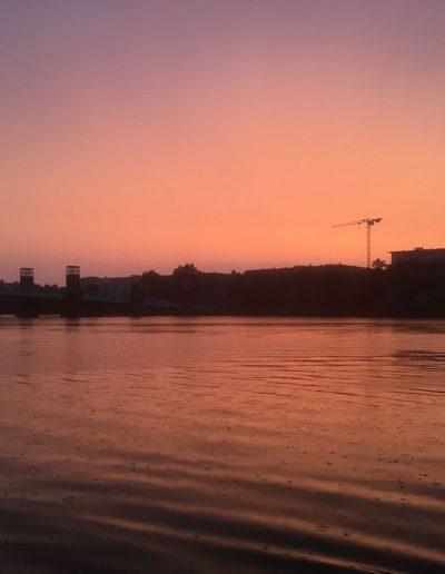Bootsfahrschule Berlin - Sonnenuntergang